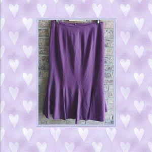 Pencil Flounced Hem Skirt Size 8